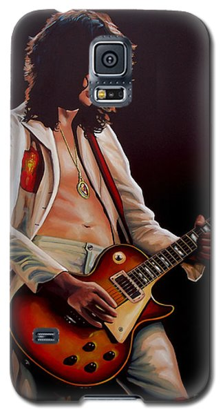 Jimmy Page In Led Zeppelin Painting Galaxy S5 Case