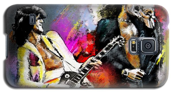 Jimmy Page And Robert Plant Led Zeppelin Galaxy S5 Case by Miki De Goodaboom