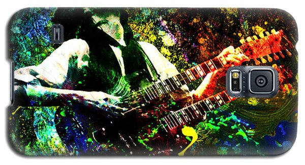 Jimmy Page - Led Zeppelin - Original Painting Print Galaxy S5 Case by Ryan Rock Artist