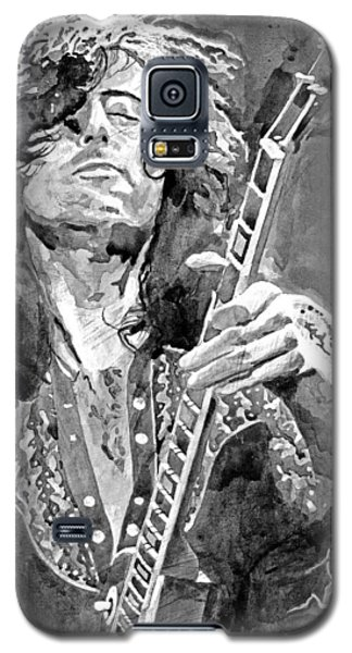 Jimmy Page Mono Galaxy S5 Case by David Lloyd Glover