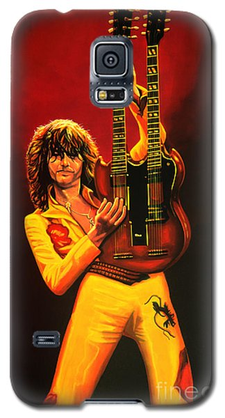 Jimmy Page Painting Galaxy S5 Case by Paul Meijering