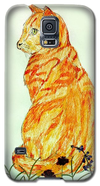 Galaxy S5 Case featuring the drawing Jinj by Stephanie Grant
