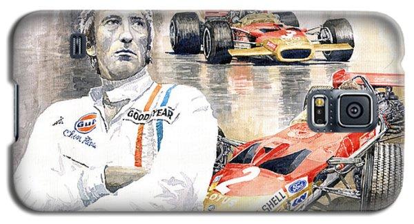 Portret Galaxy S5 Case - Jochen Rindt Golden Leaf Team Lotus Lotus 49b Lotus 49c by Yuriy Shevchuk