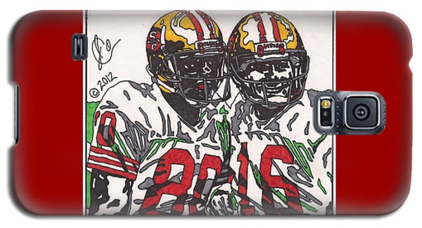 Joe Montana And Jerry Rice Galaxy S5 Case by Jeremiah Colley