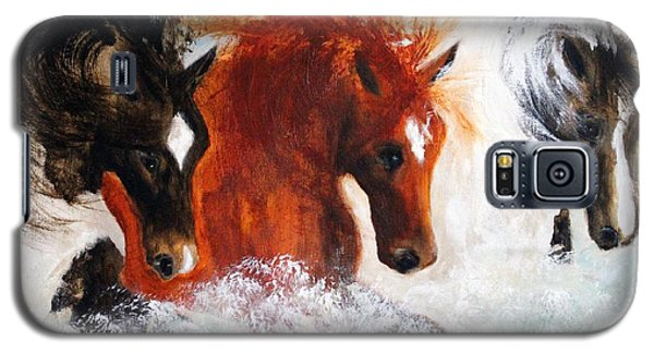 Galaxy S5 Case featuring the painting Joe Tj Apache by Barbie Batson