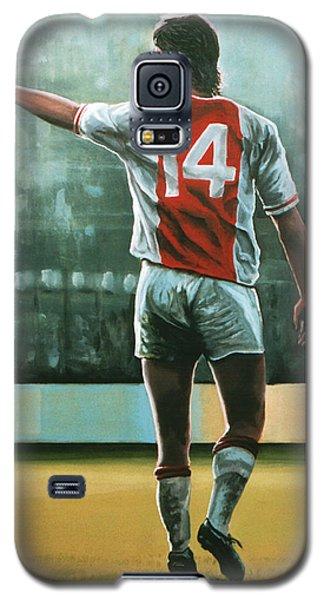 Johan Cruijff Nr 14 Painting Galaxy S5 Case by Paul Meijering