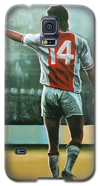 Barcelona Galaxy S5 Case - Johan Cruijff Nr 14 Painting by Paul Meijering