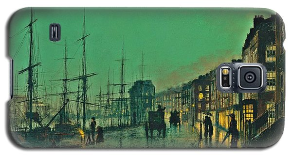 John Atkinson Grimshaw Shipping On The Clyde 1881 Galaxy S5 Case