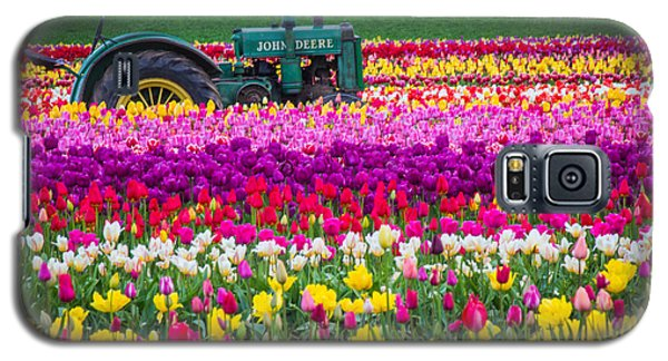 John Deere In Spring Galaxy S5 Case by Patricia Babbitt