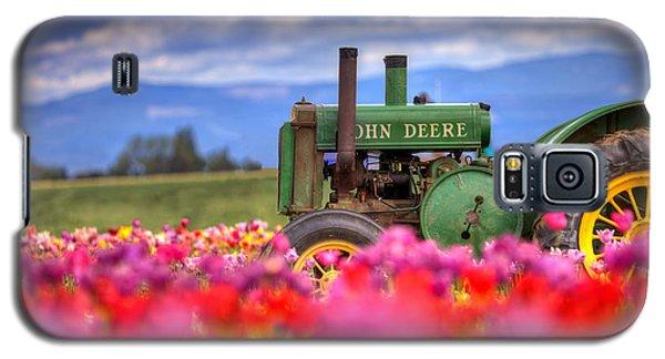 John Deere In The Tulips Galaxy S5 Case