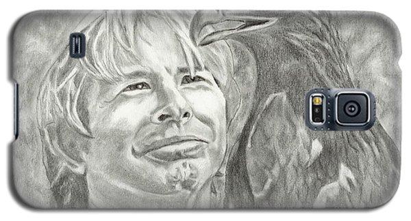Galaxy S5 Case featuring the drawing John Denver And Friend by Carol Wisniewski