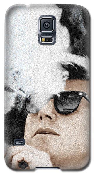 John F Kennedy Cigar And Sunglasses Galaxy S5 Case by Tony Rubino