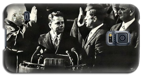 John F Kennedy Takes Oath Of Office Galaxy S5 Case