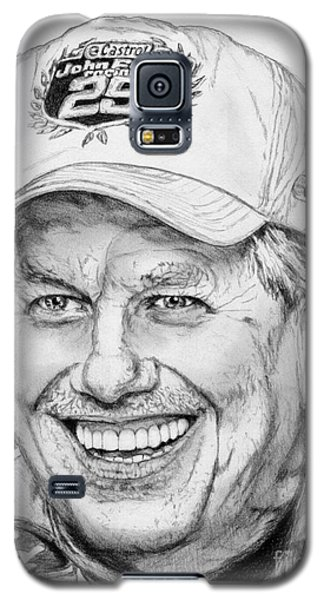 Galaxy S5 Case featuring the drawing John Force In 2010 by J McCombie