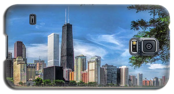 John Hancock Chicago Skyline Panorama Galaxy S5 Case by Christopher Arndt