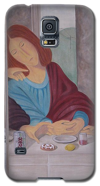 Galaxy S5 Case featuring the painting John by Karin Thue