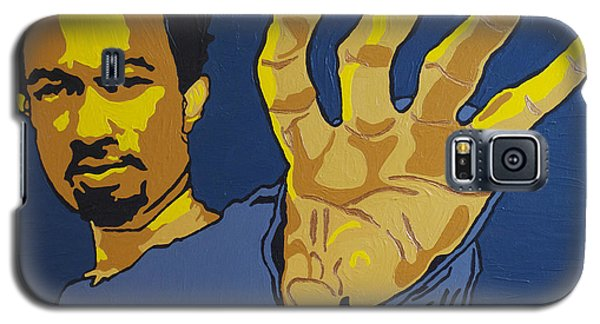 Galaxy S5 Case featuring the painting John Legend by Rachel Natalie Rawlins