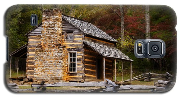 John Oliver Cabin Cades Cove Galaxy S5 Case by Lena Auxier