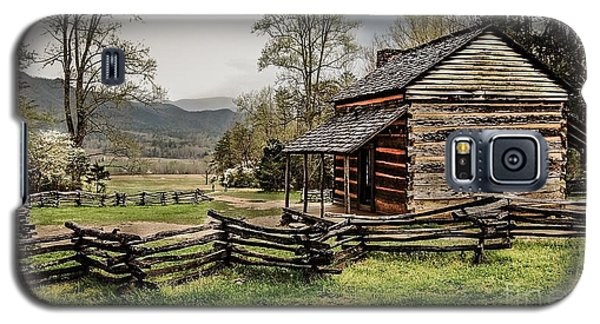 Galaxy S5 Case featuring the photograph John Oliver's Cabin In Spring. by Debbie Green