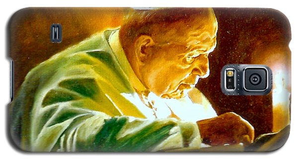 Galaxy S5 Case featuring the painting John Paul II by Henryk Gorecki