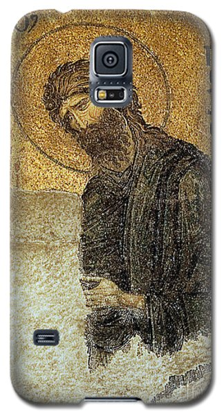 Galaxy S5 Case featuring the photograph John The Baptist-detail Of Deesis Mosaic  Hagia Sophia-judgement Day by Urft Valley Art