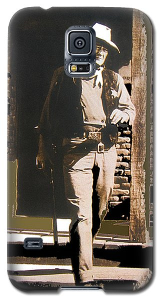 John Wayne Exciting The Sheriff's Office Rio Bravo Set Old Tucson Arizona 1959-2013 Galaxy S5 Case by David Lee Guss