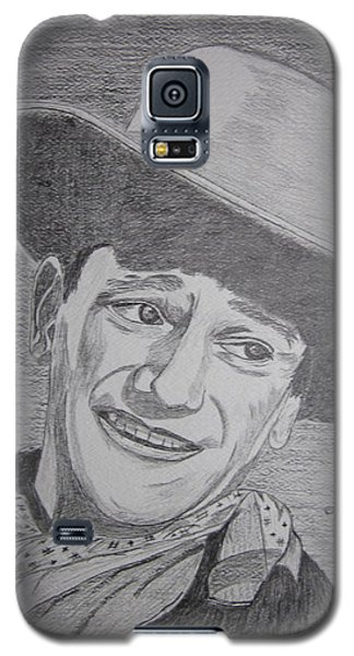 Galaxy S5 Case featuring the painting John Wayne by Kathy Marrs Chandler