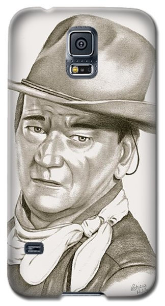 Galaxy S5 Case featuring the drawing John Wayne by Patricia Hiltz