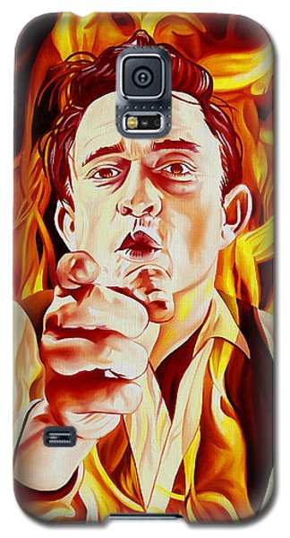 Johnny Cash And It Burns Galaxy S5 Case