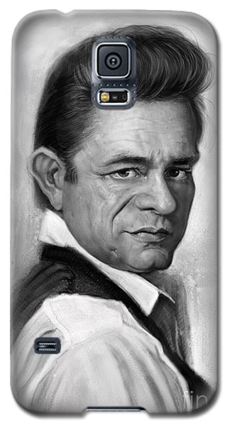 Johnny Cash Galaxy S5 Case by Andre Koekemoer
