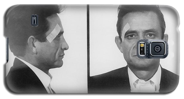 Johnny Cash Folsom Prison Galaxy S5 Case by David Millenheft