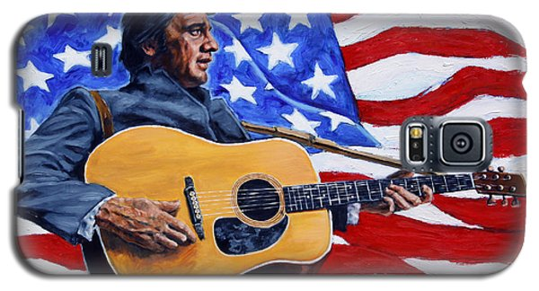 Johnny Cash Galaxy S5 Case by John Lautermilch