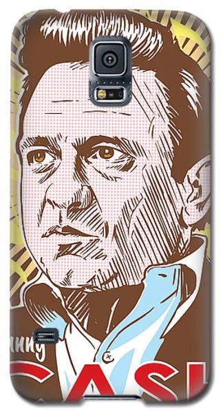 Johnny Cash Pop Art Galaxy S5 Case by Jim Zahniser