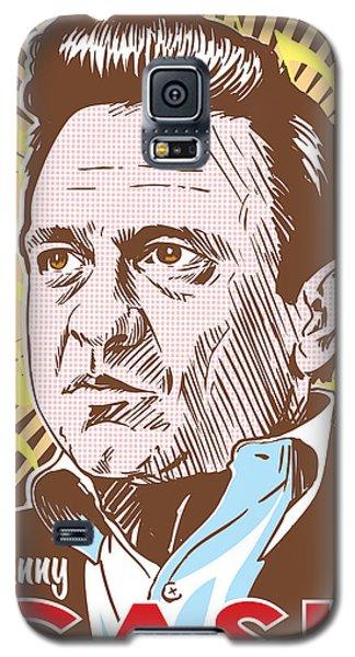 Actors Galaxy S5 Case - Johnny Cash Pop Art by Jim Zahniser