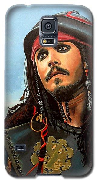 Johnny Depp Galaxy S5 Case - Johnny Depp As Jack Sparrow by Paul Meijering