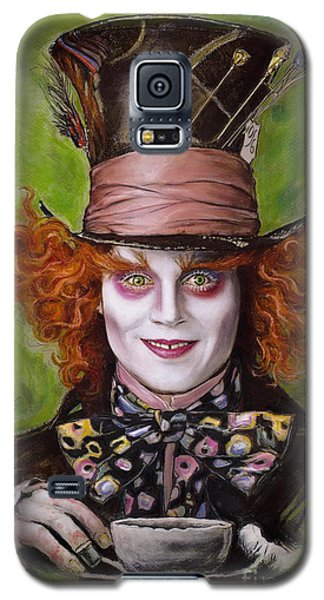 Johnny Depp Galaxy S5 Case - Johnny Depp As Mad Hatter by Melanie D