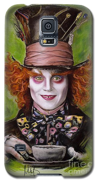 Johnny Depp As Mad Hatter Galaxy S5 Case by Melanie D