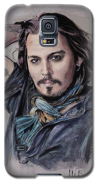 Johnny Depp Galaxy S5 Case by Melanie D