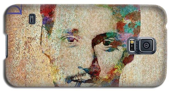 Johnny Depp Watercolor Splashes Galaxy S5 Case
