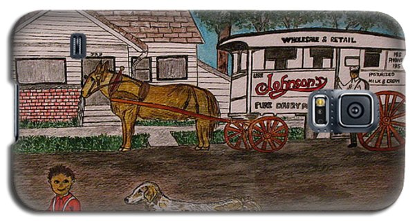 Johnsons Milk Wagon Pulled By A Horse  Galaxy S5 Case by Kathy Marrs Chandler