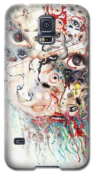 Galaxy S5 Case featuring the mixed media Joker Of Junkadelphia by Douglas Fromm