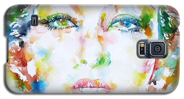 Josephine Baker - Watercolor Portrait Galaxy S5 Case by Fabrizio Cassetta