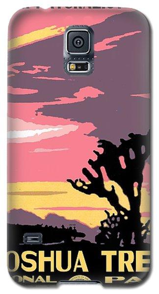 Joshua Tree National Park Vintage Poster Galaxy S5 Case
