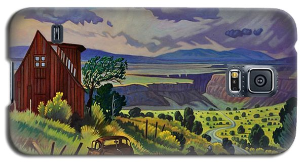 Galaxy S5 Case featuring the painting Journey Along The Road To Infinity by Art James West