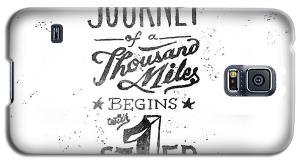 Motivational Galaxy S5 Case - Journey Of Thousand Miles by Ridza MH