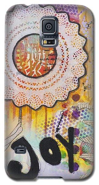 Joy And Smile Cheerful Inspirational Art Galaxy S5 Case by Stanka Vukelic