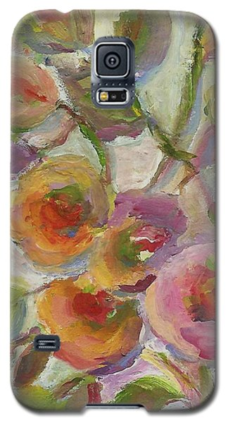 Galaxy S5 Case featuring the painting Joy by Mary Wolf