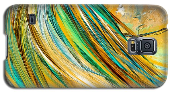 Joyous Soul- Yellow And Turquoise Artwork Galaxy S5 Case