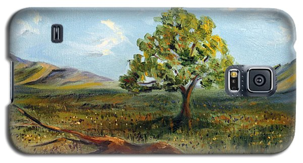 Galaxy S5 Case featuring the painting Jubilant Fields by Meaghan Troup