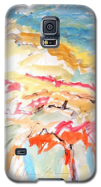 Galaxy S5 Case featuring the painting Jubilation by Esther Newman-Cohen